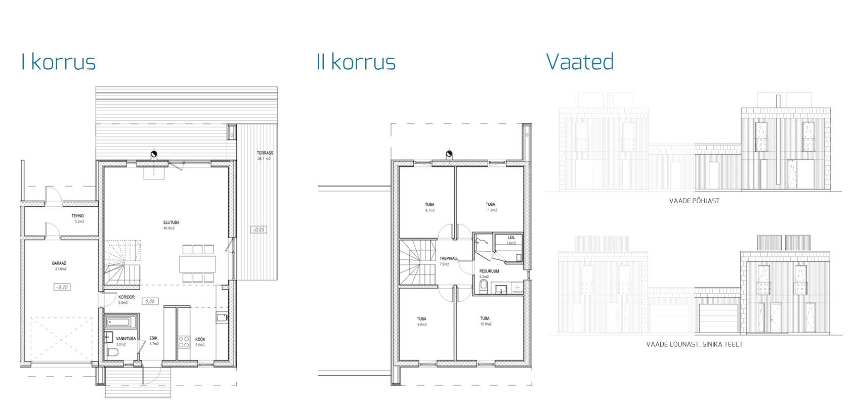 Energiamaja - Ülemiste elamurajoon: Sinika tee paariselamud, korter 2
